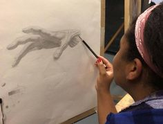 Shereice is close to finished her cast drawing of a hand in instructor Robert Zeller's Foundations of Classical Drawing and Painting class. Tuesday nights-6:30-9:30pm http://ift.tt/1nPniZ7 #drawing #figure #atelier #teachingstudios #instaart #art #contemporaryart #realism #fromlife #workinprogress #sketch #sketchbook #charcoal #pencil #tonedpaper #oysterbay #longisland #anatomy