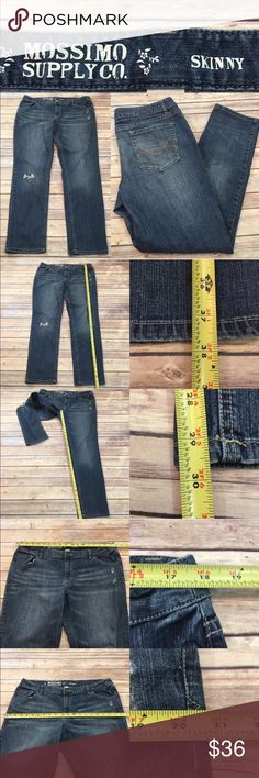 Size 17S Mossimo Juniors Distressed Skinny Jeans • Measurements are in photos  • Material tag is in photos • Normal wash wear, no flaws • Destructed Knee    • Skinny  • Short  D2/37  Thank you for shopping my closet! Mossimo Supply Co. Jeans Skinny