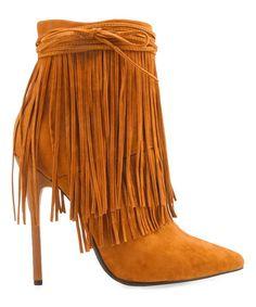 c276c4d74e31 Love this Chestnut Capilla Bootie on  zulily!  zulilyfinds Fringe Boots