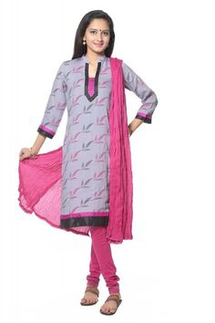 LILAC PRINTED COTTON KURTI WITH LEGGING