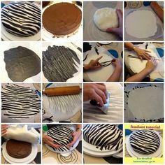 Zebra fondant