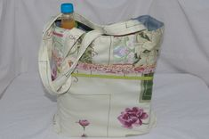 Bag Large Shopping Bag with Long handles and patchwork. £18.00