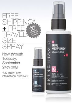 Skindinavia Bridal Makeup Finish - Keeps your makeup in place all day and makes it look like you've just applied it. Kiss-proof, cry-proof and sweat-proof. Makeup Finishing Spray, Makeup Spray, Makeup Primer, Makeup Artist Tips, Freelance Makeup Artist, Makeup Tips, Makeup Artists, Makeup Ideas, Professional Makeup Kit