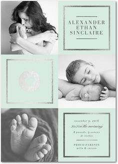Every little detail counts. Introduce the new little one and capture that special sibling moment for all to see on a birth announcement you can share.