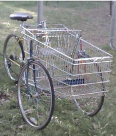 An interesting way to make use of a shopping trolley.