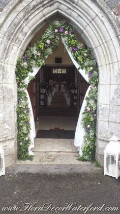 Winter Wedding @ Faithlegg Church, Co Waterford. Church Wedding, Arch, Photo And Video, Winter, Floral, Winter Time, Flowers, Winter Fashion, Belt