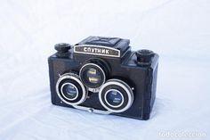 Clásica cámara de colección estereoscópica - SPUNTIK - medio formato 6x6 - LOMO - Foto 1