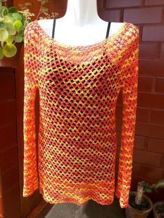 Polera de verano a crochet (Nudo Salomón) Remera ganchillo - Crochet tunic summer top by Suhyza
