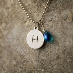Initial Necklace | Name Necklace | Hand Stamped Sterling Silver | Hip Mom Jewelry