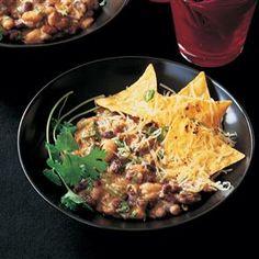 Chilli beans with Monterey Jack nachos recipe #vegetarian