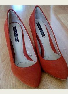 Kup mój przedmiot na #vintedpl http://www.vinted.pl/damskie-obuwie/polbuty/8256830-pomaranczowe-czolenka-na-koturnie-zara