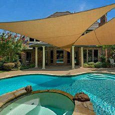Amazing offer on e.share X X Sun Shade Sail Uv Top Outdoor Canopy Patio Lawn Triangle Beige Tan Desert Sand ? Patio Canopy, Canopy Outdoor, Outdoor Pergola, Backyard Pergola, Pergola Shade, Pergola Plans, Pergola Ideas, Pergola Kits, Backyard Shade