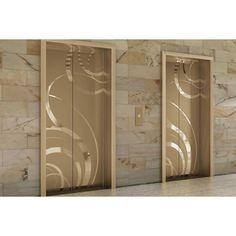 Fused Metal Elevator Doors found on Polyvore