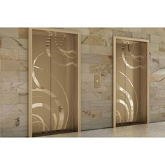 Fused Metal Elevator Doors found on Polyvore