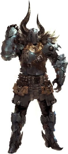 Goliath Barbarian/Fighter full armor with fur Fantasy Concept Art, Fantasy Armor, Fantasy Character Design, Dark Fantasy Art, Character Design Inspiration, Character Concept, Character Art, Character Creation, Dnd Characters