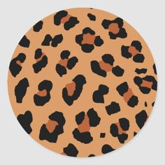 Great idea for anyone who loves leopard printed things! Size: inch (sheet of Gender: unisex. Cd Wall Art, Record Wall Art, Cd Art, Small Canvas Art, Diy Canvas Art, Small Art, Decoration Hall, Vinyl Art, Round Stickers
