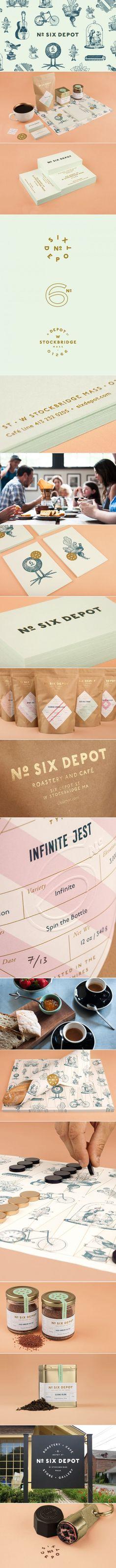 No. Six Depot Coffee Roaster & Cafe   Perky Bros.