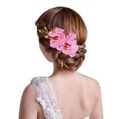 Clips Hot Girls Flower Side Clip Wedding Bride Headwear Hairpin Sufficient Supply Hair Extensions & Wigs