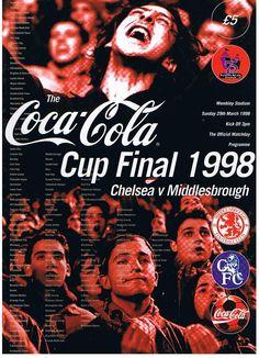 Middlesbrough v Chelsea Coca Cola Cup Final 1998