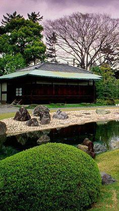 Jardim Seiryuen, castelo Nijo,  Kyoto, Japão.