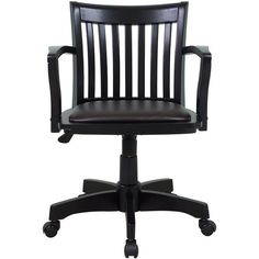 Oxford Adjustable-Height Office Chair with Arms ($229) ❤ liked on Polyvore featuring home, furniture, chairs, office chairs, gas lift chair, adjustable desk chair, home decorators collection, adjustable office chair and slatted chair