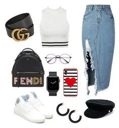 """""""Ready for it?"""" by jessica-trisanti on Polyvore featuring storets, adidas Originals, Fendi, Gucci, Kate Spade and Manokhi"""