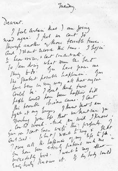 Virginia Woolf's Handwritten Suicide Note: A Painful and Poignant Farewell - It seems like a very morbid and inhuman practice to treat the suicide note as a piece of literature, even if the author of said note is a writer as famous as Virginia Woolf.