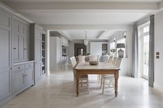 Cranbrook Project - Humphrey Munson Kitchens Open Plan Kitchen, New Kitchen, Country Kitchen, Kitchen Ideas, Small Tv Cabinet, Natural Stone Flooring, Limestone Flooring, Humphrey Munson, Hallway Storage