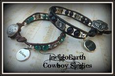 IndigoEarth~ Cowboy Singles~ Single Wrap Bracelet   IndigoEarth - Jewelry on ArtFire
