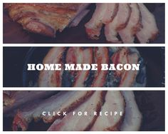 Homemade bacon is a truly magical piece of meat! Making your own bacon will take at least a week, but this will be the greatest bacon you've ever had! You'll also get the added bonus and the satisfaction of knowing you made it yourself. Weber Bbq Recipes, Home Made Bacon, Make Your Own, Make It Yourself, Breakfast Recipes, At Least, Pork, Homemade, Meat