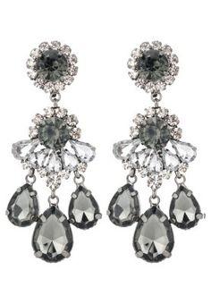 BURGAS - Orecchini - gunmetal/black diamond/crystal