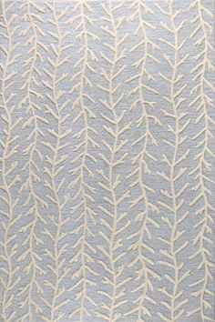 An artful anchor for a vibrant space or touch of texture in a neutral room, this hand-tufted wool rug features a lovely branch-inspired motif in light blue. Light Blue Area Rug, Blue Area Rugs, Rug Loom, Area Rugs For Sale, Cheap Rugs, Rugs Usa, Discount Rugs, Contemporary Rugs, Rugs In Living Room