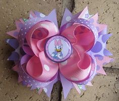 Custom Boutique Hair Bow made to match Daisy Duck by Asil328, $9.99
