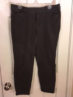 ffe0a4689ef Old Navy Women s Pixie Crop Pants Size 12 Gray  fashion  clothing  shoes