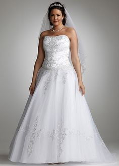 Strapless Tulle Ball Gown with Satin Bodice AI13011629