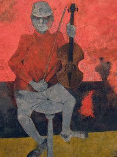 Rufino Tamayo, Hombre del violín, 1990