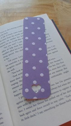 Bookmark made from leftover scrapbooking paper