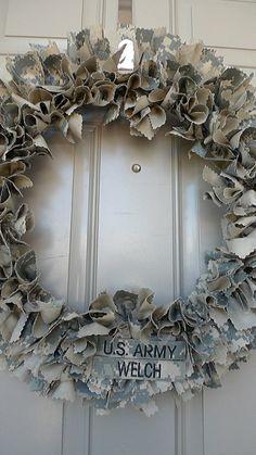 Custom Military Wreath by KWbyKaciWelch on Etsy, $42.00