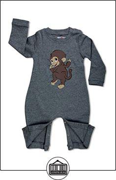 Cuda Boo, Pijama de una pieza larga razón manga: Mono, Gris (Gris), 6 - 12 Meses  ✿ Regalos para recién nacidos - Bebes ✿ ▬► Ver oferta: http://comprar.io/goto/B00TQTD6FC