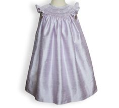 Anarose pink silk bishop dress for girls