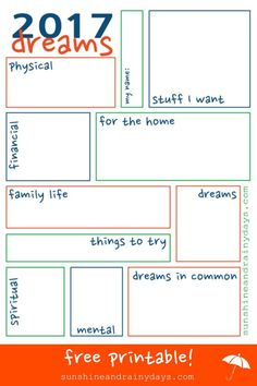 I'm just not into it. Everyone is talking about resolutions but after finding our dream sheets from last year, I decided to create a 2017 Dream Sheet! via @Sunshine and Rainy Days