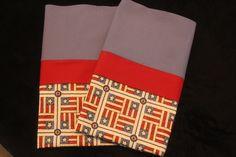 Handmade American Flag Pillowcase standard/full SET by Fabricatedwithlove on Etsy