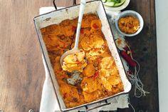 Ook oosterse smaken gaan perfect samen met zoete aardappel - Romige gratin van zoete aardappel en pinda - Recept - Allerhande