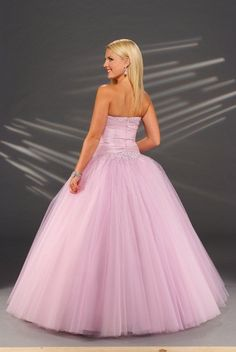 4fc0490ec1 Tulle+Beaded+Strapless+Sweetheart+Neckline+with+Floor+Length+Ball+Gown+Skirt +Pink+Hot+Sell+Prom+Dresses