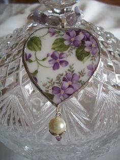 Pretty floral heart