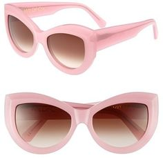 $179, Wildfox Kitten 56mm Sunglasses by Wildfox Couture. Sold by Nordstrom. Click for more info: http://lookastic.com/women/shop_items/65045/redirect