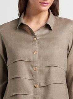 Women's Linen Tops & Blouses - Penny Linen Sleeved Collar Shirt Jacket   ANN G LINEN – ANN G LINEN