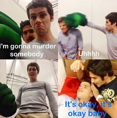 stiles , scott , and one of the twins