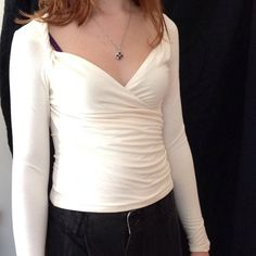 Adorable THE LIMITED cross front top Cream colored knit top The Limited Tops
