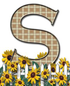 Letra con verja floral.....S